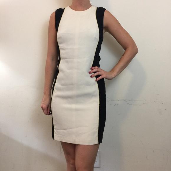a14a71d215 Rag   Bone Ivory Black Contour Gold Shift Dress
