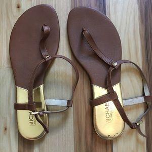 Michael Kors T Strap Gladiator Sandals