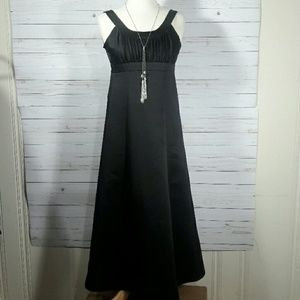 David's Bridal Black Sleeveless Dress Size 10