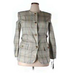 Neutral Plaid Jacket