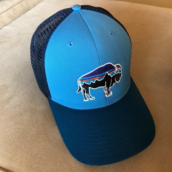 4fdb755b882 🎉HP🎉Patagonia Fitz Roy Bison Trucker Hat. M 59bc65fb41b4e0ed730147bf