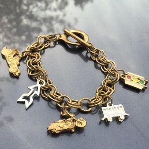 Jewelry - Double Chain Traffic Charm Bracelet