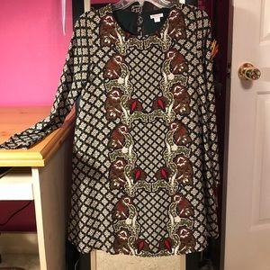 Long Sleeve Boho-esk Dress