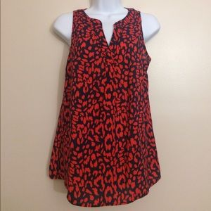 Red & Navy Cheetah Tank