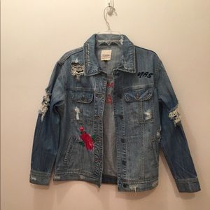 Jackets & Blazers - Distressed denim jacket