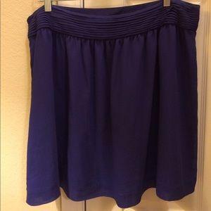 LOFT indigo skirt