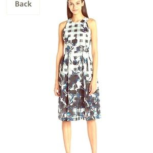Ivanka Ivory and Sea Blue beautiful dress.
