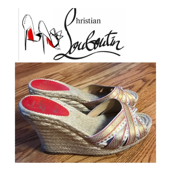 e5838afbda04 Christian Louboutin Shoes - Christian Louboutin cataribbon espadrille wedge