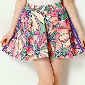 Adidas Originals Banana Floral Flared Skirt, M