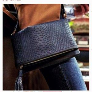Convertible Clutch & Crossbody embossed python bag