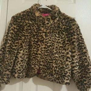 Forever 21Leopard print  short waist coat