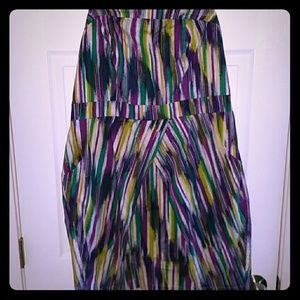 TORRID strapless pattern dress