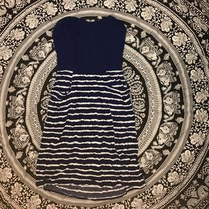Strapless Navy Sundress