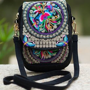 Handbags - Small Vintage Boho Embroidery Crossbody Handbag