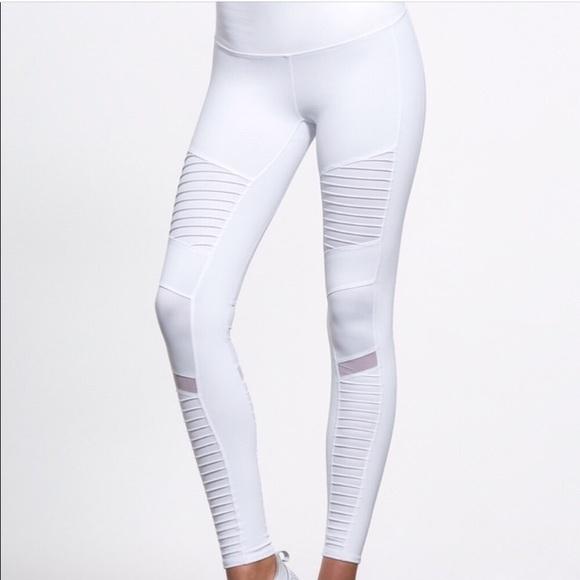 cb14d38b130e0 ALO Yoga Pants | White Moto Legging | Poshmark