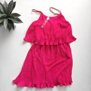 Ya Los Angeles Pink Chiffon Layered Dress