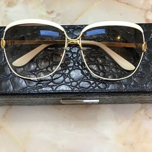 Vintage gold and ivory sunglasses