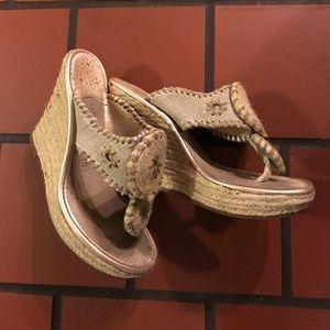 Jack Rogers platform wedge sandals