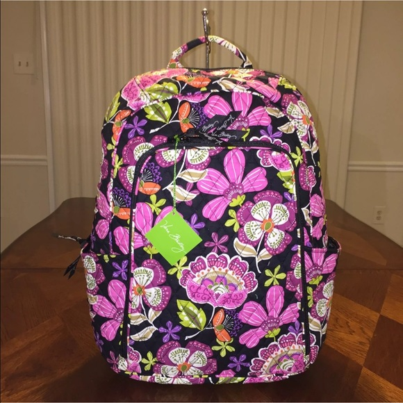 225dac00ce32 NWT Vera Bradley Laptop Backpack Pirouette Pink