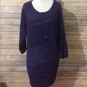 Apt 9 Purple Sweater Sz Large