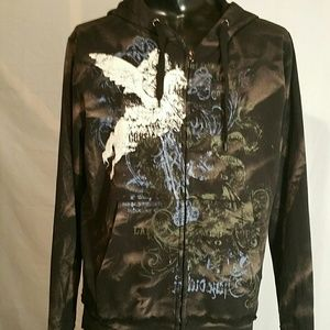 Point Zero Shirts - Point Zero zippered hoodie. Mens Med. NWT