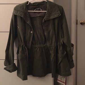 Jackets & Blazers - Green canvas jacket