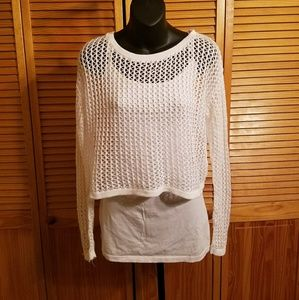 NWOT white knit top!