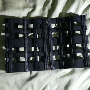 Black Caged Corset Belt