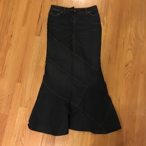 Dresses & Skirts - Fit and flare Denim Skirt