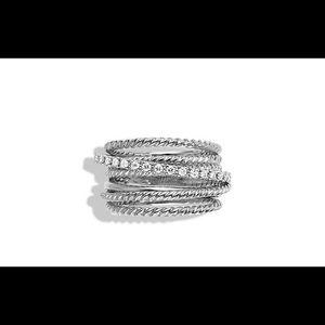 Authentic David Yurman Crossover Wide Ring Diamond