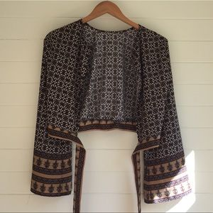 Tops - Printed cardigan/shirt