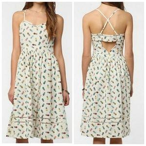 Cooperative pineapple print dress