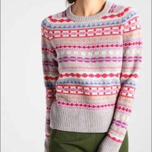 50% off J. Crew Sweaters - NWOT J.Crew Holly Sweater in Fair Isle ...