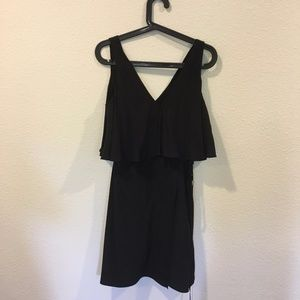 NWT Amanda Uprichard black crop top dress