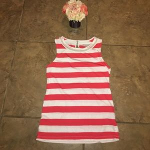 Banana republic white & red striped top