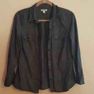 ⬇️⬇️ Old Navy Chambray Button Down LS Top X-SMALL