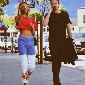 LF carmar flame boyfriend jeans