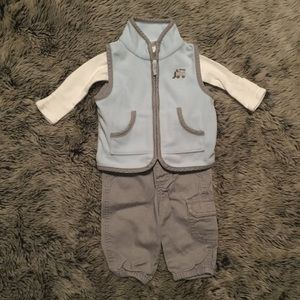 Carter's Boys 3M Vest, Onesie, and Pant Outfit
