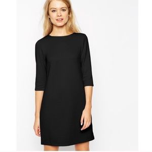 Black 60's style shift dress