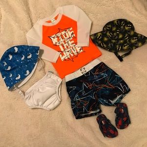Other - Swim Bundle Gymboree OshKosh 12 18 month Baby Boy