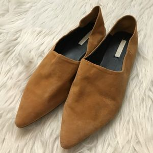 H&M Tan Suede D'Orsay Flats