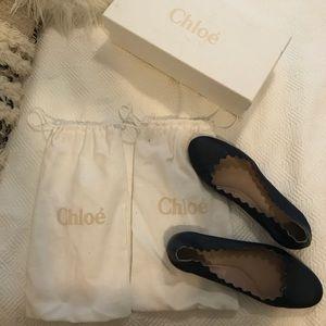 Chloe Navy blue flats size 37