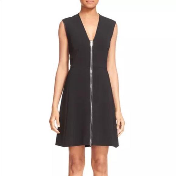 Rag & Bone Woman Sharon Silk Satin-trimmed Stretch-knit Mini Dress Black Size 2 Rag & Bone 6uyF4t