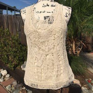 🆕Sale🆕Adiva shirt filigree lace pattern tank top