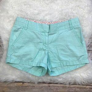 J. Crew Factory Mint Broken In Chino Shorts