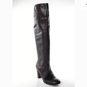 HAND MADE, ITALIAN LEATHER KNEE HIGH BOOTS SZ 9