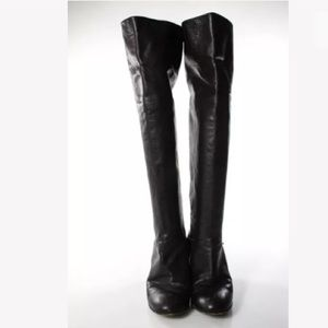 Yin & Fitz Shoes - HAND MADE, ITALIAN LEATHER KNEE HIGH BOOTS SZ 9