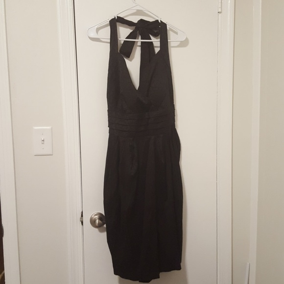 Little Black Halter Semiformal Dress Plus Size Poshmark