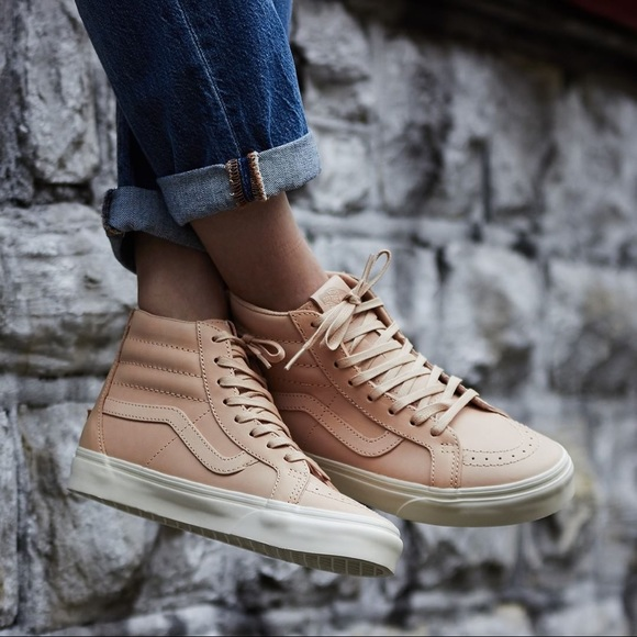 Vans Sk8-Hi Veggie Tan Leather Sneakers 827d2cef6