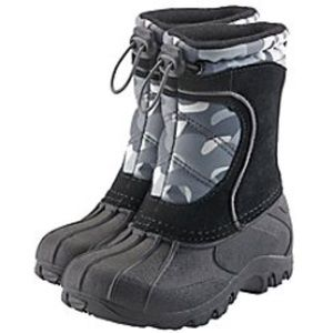 Last one! Boys Sporto Winter Camouflage Snow Boots